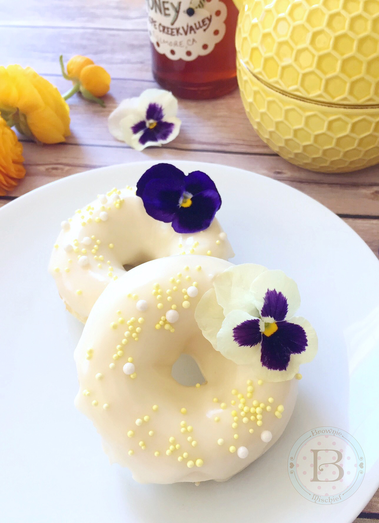 Lemon Buttermilk Donuts with H