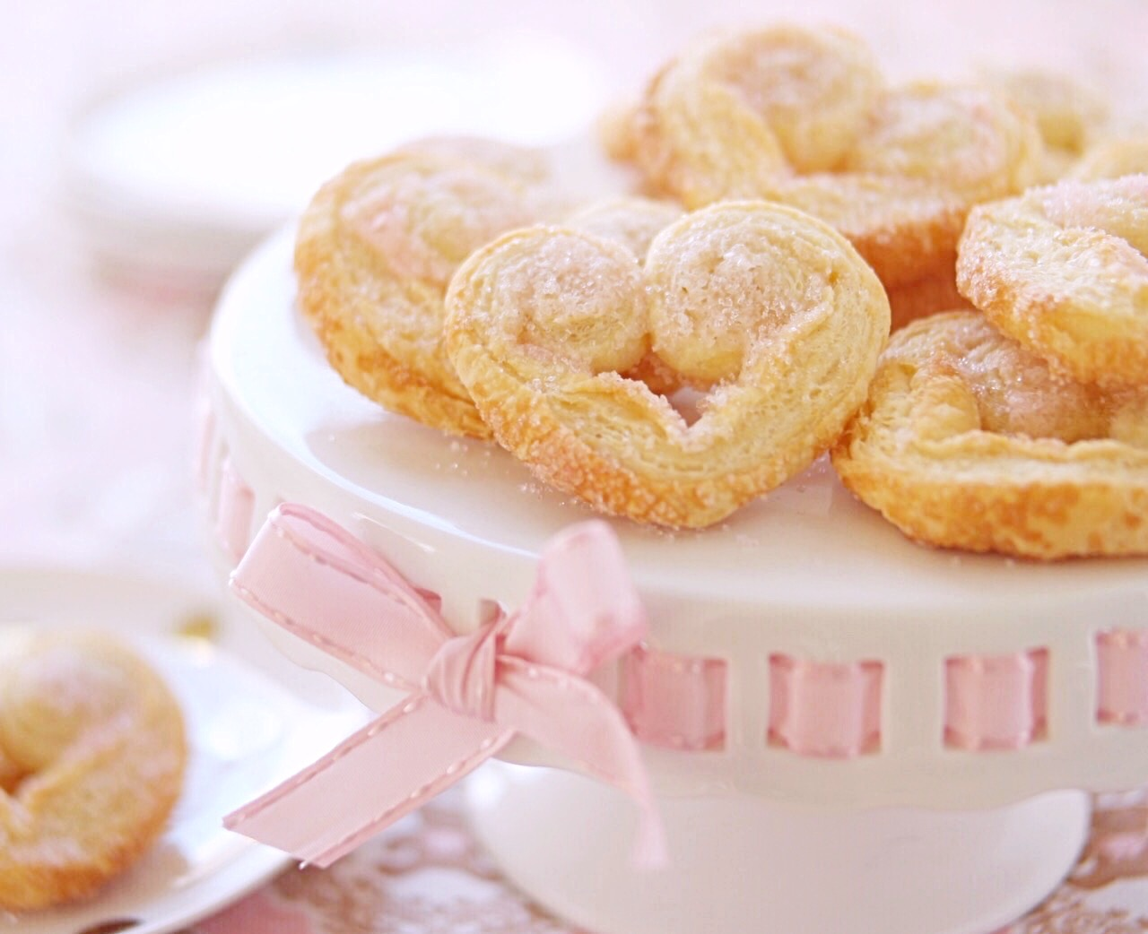 Sparkling Sweetheart Palmier Cookies