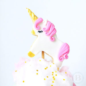 Unicorn Cookie Cake Topper Tutorial by Brownie Mischief