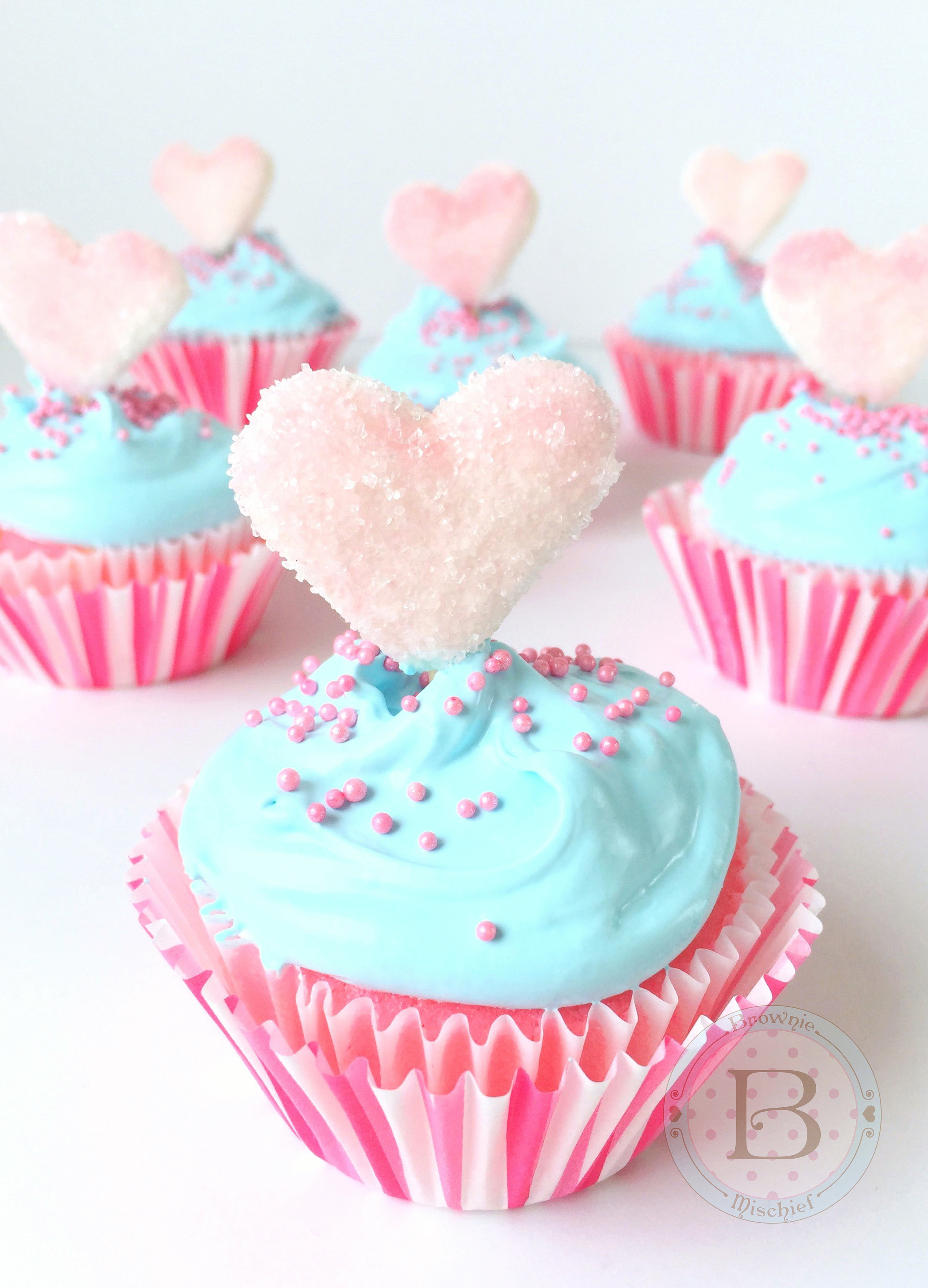 Marshmallow Heart Cupcake Toppers Tutorial by Brownie Mischief