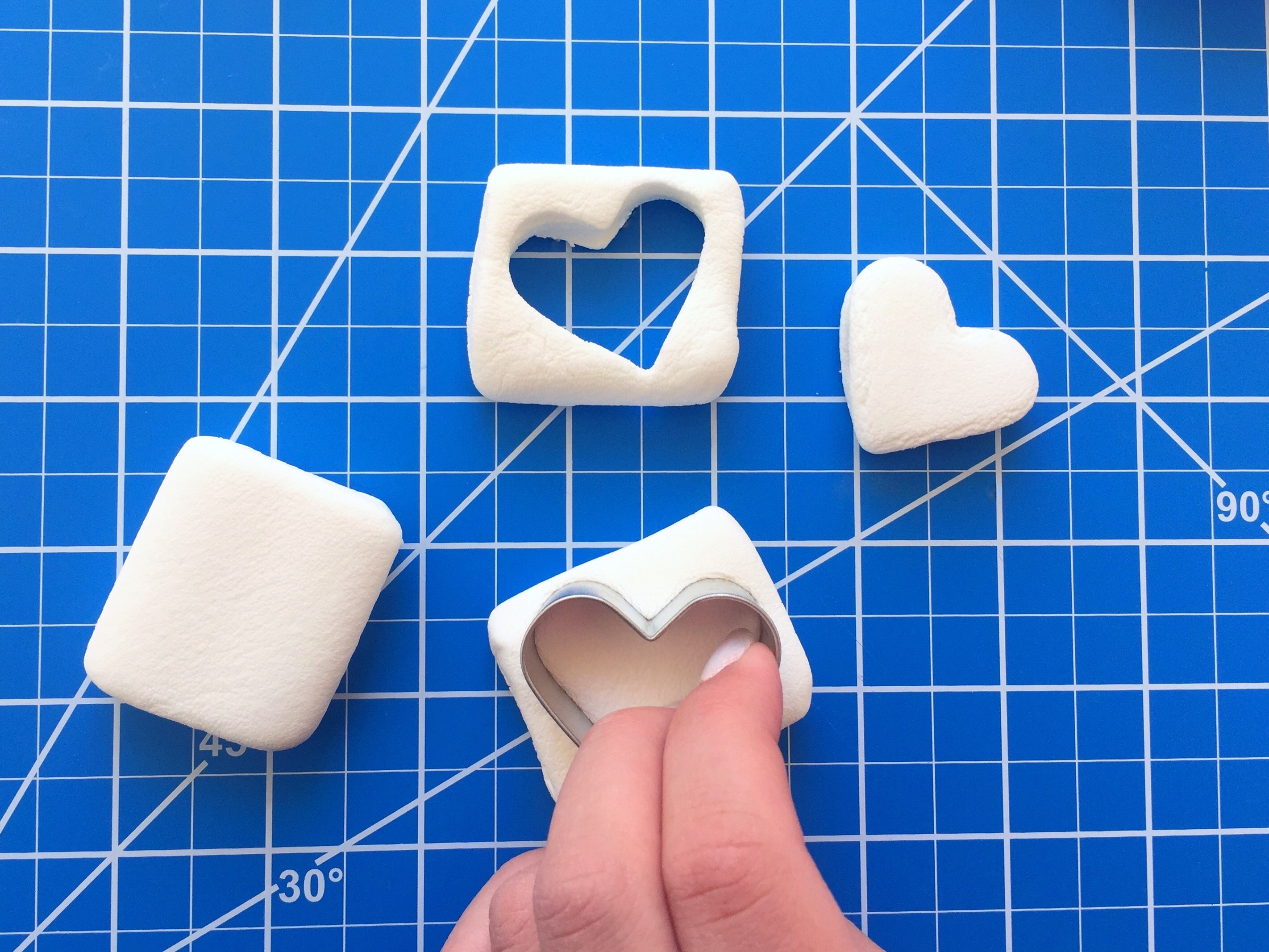 Sparkly Marshmallow Hearts Tutorial 2