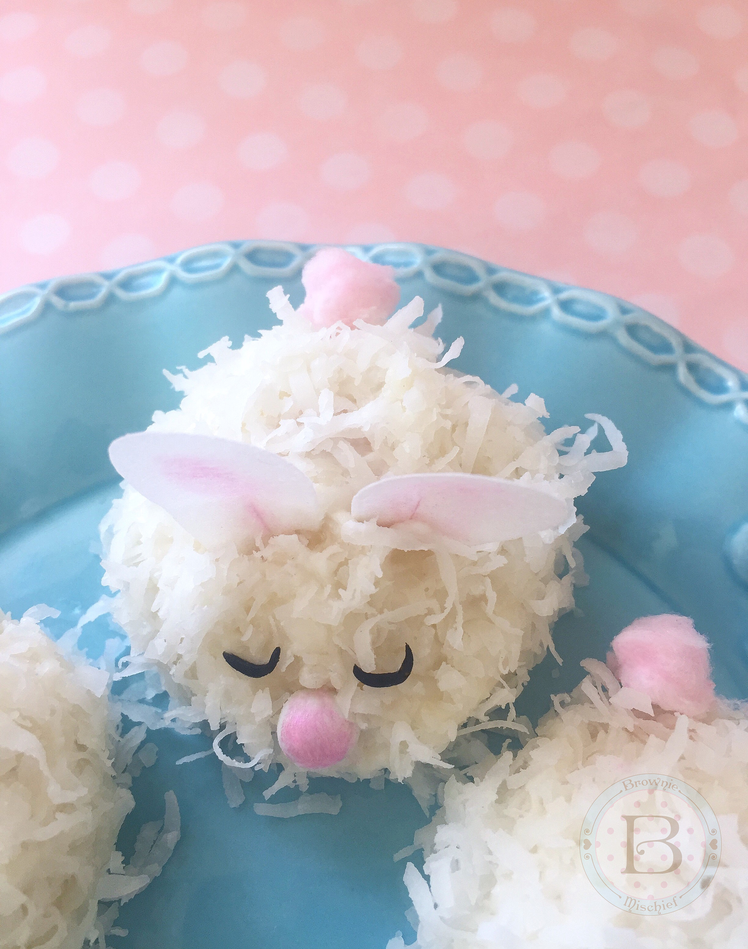 Baby Bunny Coconut Cakes by Brownie Mischief