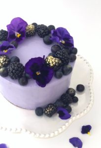 Purple Berry Cake with Silky Cream Cheese Frosting by Brownie Mischief