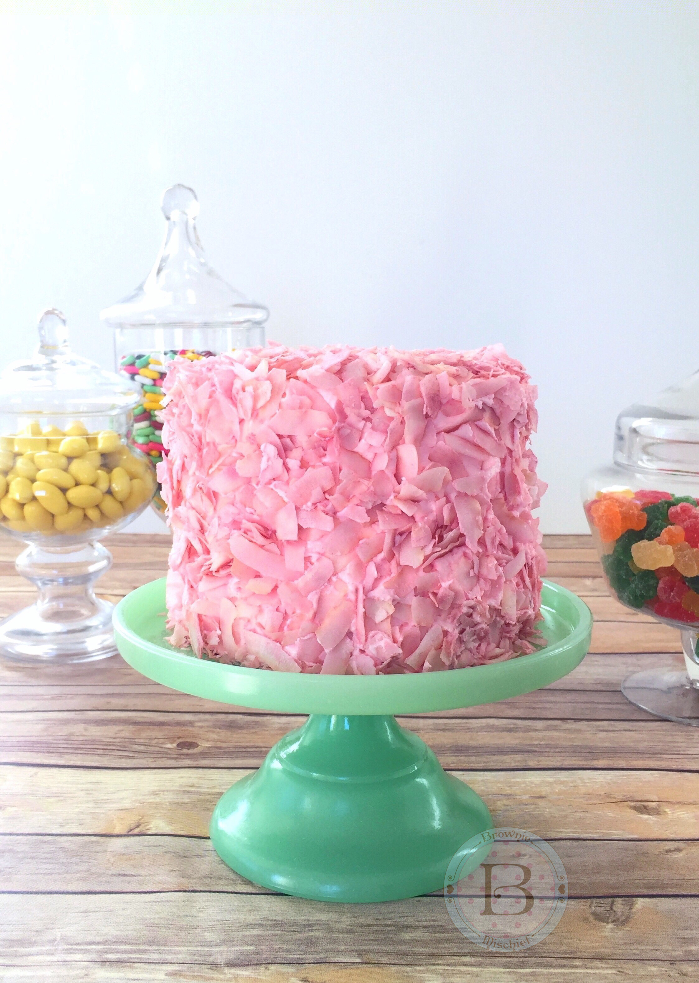 Honeydukes Inspired Pink Coconut Ice Cake by Brownie Mischief